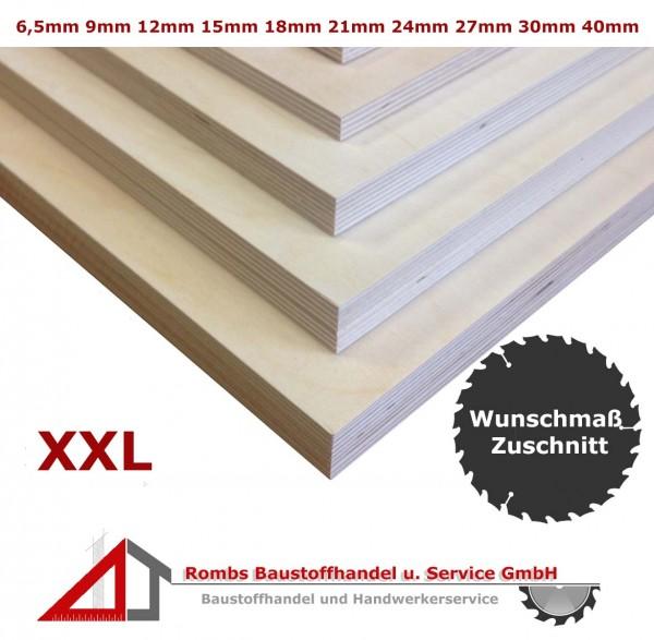 Multiplexplatten XXL-Zuschnitt Birke BFU100