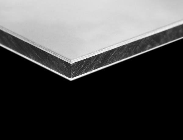 3mm Aluverbundplatte 50€/m² weiß Verbundplatte Aluplatte Werbetafel Schild
