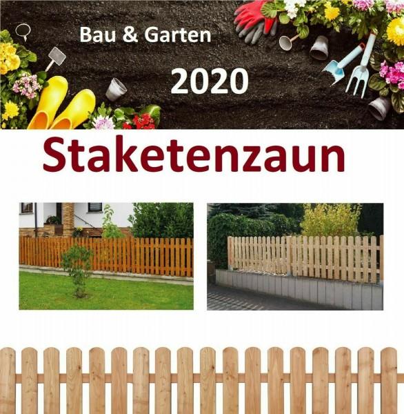 Staketenzaun Honigfarbe Lärche Sichtschutz Gartenzaun Zaun Pfosten Rundpfosten