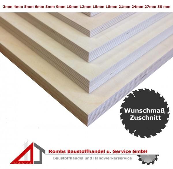 Sperrholzplatten IF20 ab 19€/qm Birke Zuschnitt