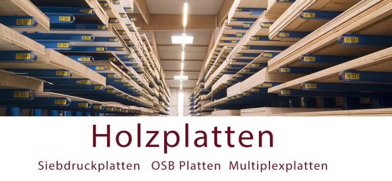 Siebdruckplatten Sperrholzplatten Multiplexplatte OSB Platten