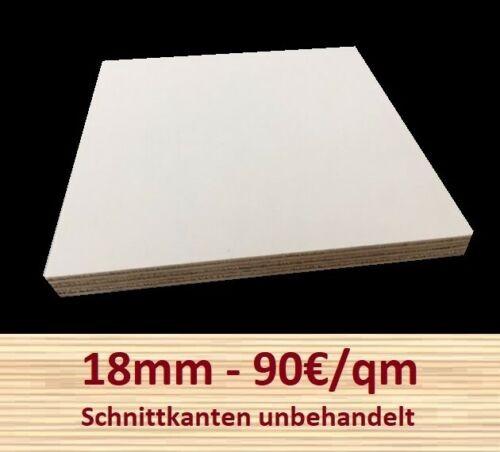 Multiplexplatte weiß 90€m² melaminbeschichtet Zuschnitt Multiplex Sperrholz 18mm