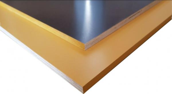 Siebdruckplatte Gelb/Braun 9mm 35€/m² glatt/glatt Anhängerplatte Birke