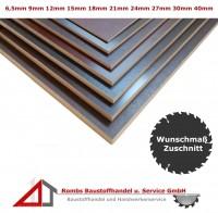 Siebdruckplatte Zuschnitt ab 26€/qm Birke BFU100