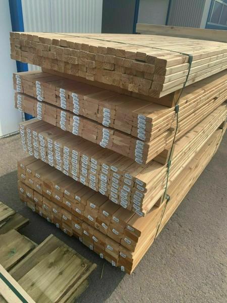 Lärche Unterkonstruktion ab3,55€/m Konstruktionsholz glatt roh Latten Douglasie