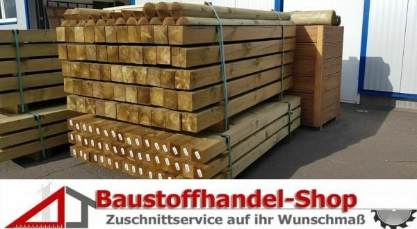 Holzpfosten Vierkantpfosten Palisade Zaunpfosten Pfahl Zaun KDI