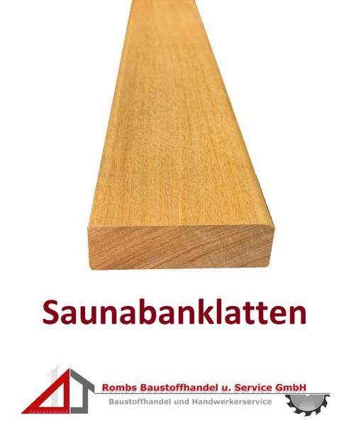 Saunabanklatten Garapa 70x21mm ( 9,50€/lfm)