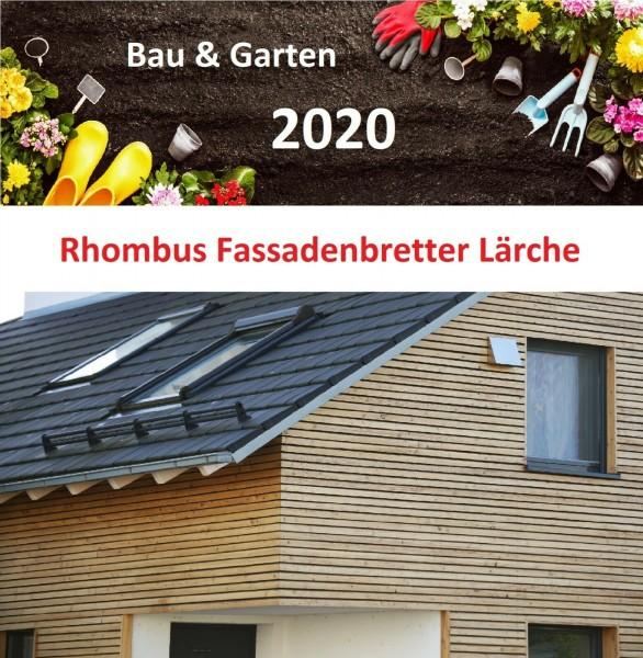 Rhombusleisten 3,50€/lfm sibirische Lärche Fassadenbrett A/B Wandverkleidung Holz